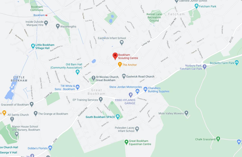 3rd Bookham Map